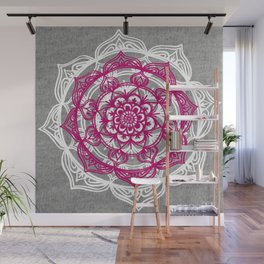 Mandala on Gray Jersey Wall Mural