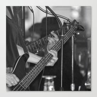 bass Canvas Prints featuring Bass  by Sugar & Brownie