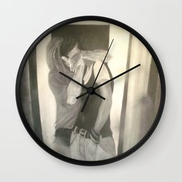 the weird kiss Wall Clock