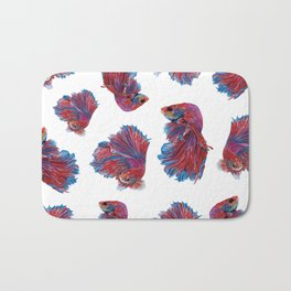 Ocean Theme- Red Blue Betta Fish Bath Mat