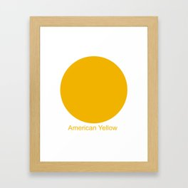 American Yellow Framed Art Print