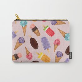 Ice creams Pattern | Summer pattern | Food illustration pattern Carry-All Pouch