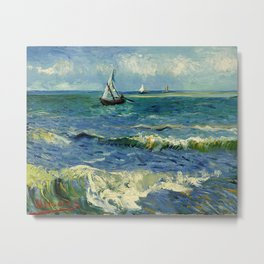 Seascape at Saintes Maries Metal Print