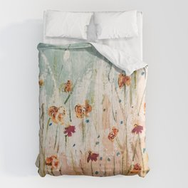Tiger Lilies, Coneflowers, & Those Blue Things Comforters