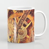 clockwork Mugs featuring CLOCKWORK by Stephanie Lue