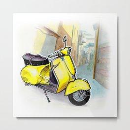 Giallo Vespa (Motocicletalia) Metal Print