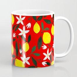 Lemons Red Coffee Mug