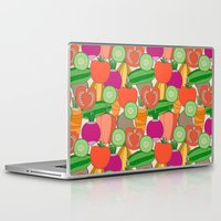 vegetables Laptop & iPad Skins featuring Vegetables by Valendji