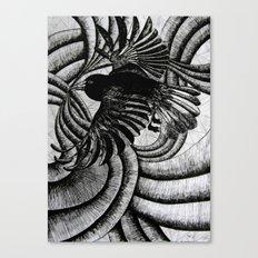 Crazy Burd! Canvas Print