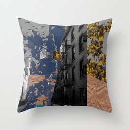 Trees, Water, & Cement Throw Pillow
