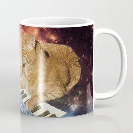 Space Cat with Synthesizer 1 Coffee Mug