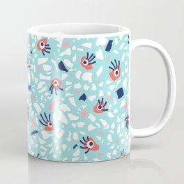 Fun Terrazzo Geometric Pattern With Eyes Coffee Mug