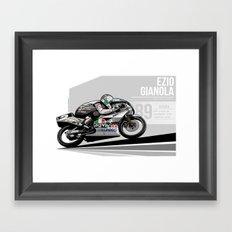Ezio Gianola - 1989 Suzuka Framed Art Print