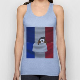 Frenchy owl Unisex Tank Top
