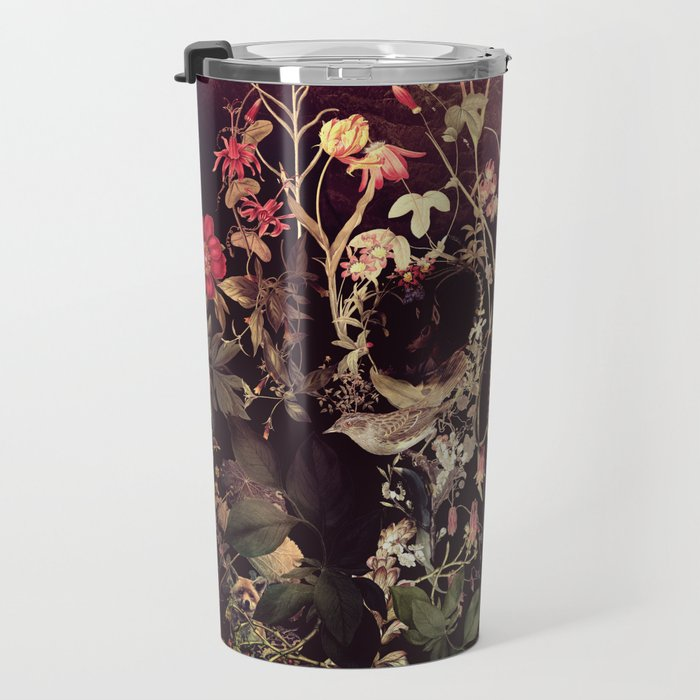 Bloom Skull Travel Mug