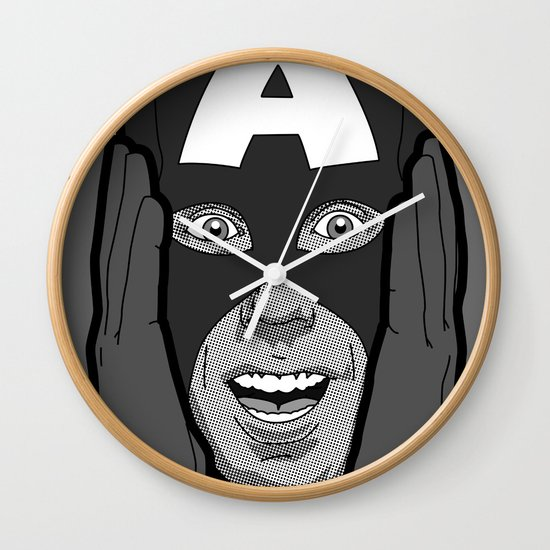 The secret life of heroes - Photobooth2-4 Wall Clock
