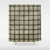 plaid Shower Curtains featuring Plaid by Joanne Anderson
