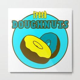 Vintage Donut Shop Fresh Doughnuts Design Metal Print