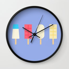 Paletas, Popsicles, Ice Cream | Cartagena, Colombia Wall Clock