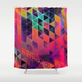 synthstar retro:80 Shower Curtain