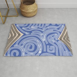 Aboriginal line pattern Rug