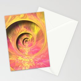 Trippy Spiral Stationery Cards