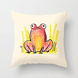 Red Frog Throw Pillow