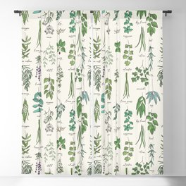 Herbs Collection Pattern Blackout Curtain
