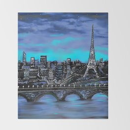 Eiffel Tower ~ Paris France Throw Blanket