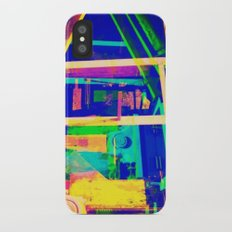 Industrial Abstract Blue iPhone X Slim Case