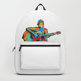 The guitarist Backpack