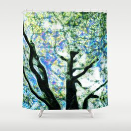 Sparkle Tree Shower Curtain
