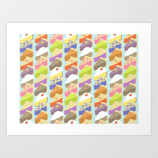 Pies Art Print