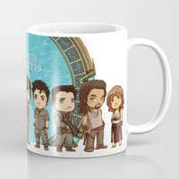 stargate Mugs featuring Cast of Stargate Atlantis by Ravenno