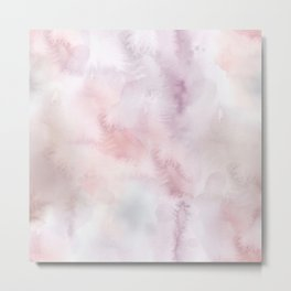 Elegant blush pink lilac hand painted watercolor pattern Metal Print