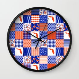 Florida University gators swamp life varsity team spirit college football quilted pattern gifts Wall Clock