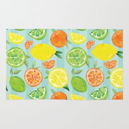Zesty Citrus Pattern Rug