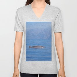 Beaked whale in the mist Unisex V-Neck