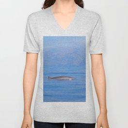 Beaked whale in the mist Unisex V-Neck