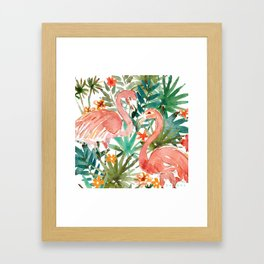 FLAMINGO PARADISE Framed Art Print