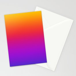 Colorful Gradient Pattern Neon Abstract Rainbow Stationery Cards