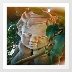 The Pondering Cherub Art Print