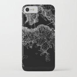 Hong Kong Black Map iPhone Case