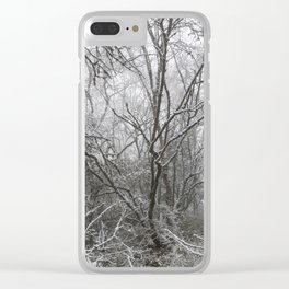 Magical winter forest Clear iPhone Case