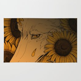 Sunflowers field Rug