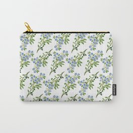 Watercolor Blueberries Pattern Carry-All Pouch