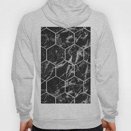 Black Campari marble - hexagons Hoody