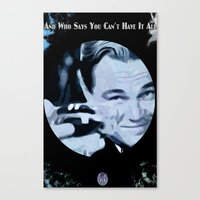 the great gatsby Canvas Prints featuring Great Gatsby by Instrum