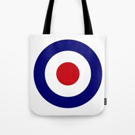 Red White And Blue Roundel Tote Bag