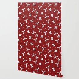 Red christmas pattern Wallpaper